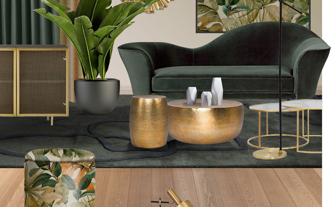 Potiskane tkanine in tropski motivi
